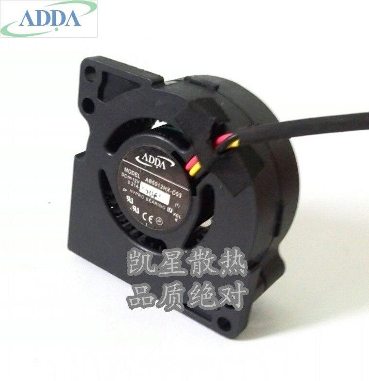 Wholesale ADDA AB5012HX-C03 (T3VL5) DC 12V 0.21A Server Cooling Fan  Server Blower Fan 50x50x20mm 3-wire