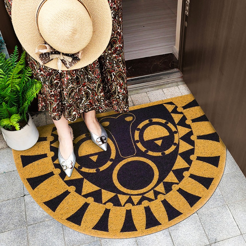 Luxury Ethnic Bohemia Door Mat Waterproof Carpet Sticker Floral Rug Sticker Decorative Stair Mats Living Room PVC Material Mat