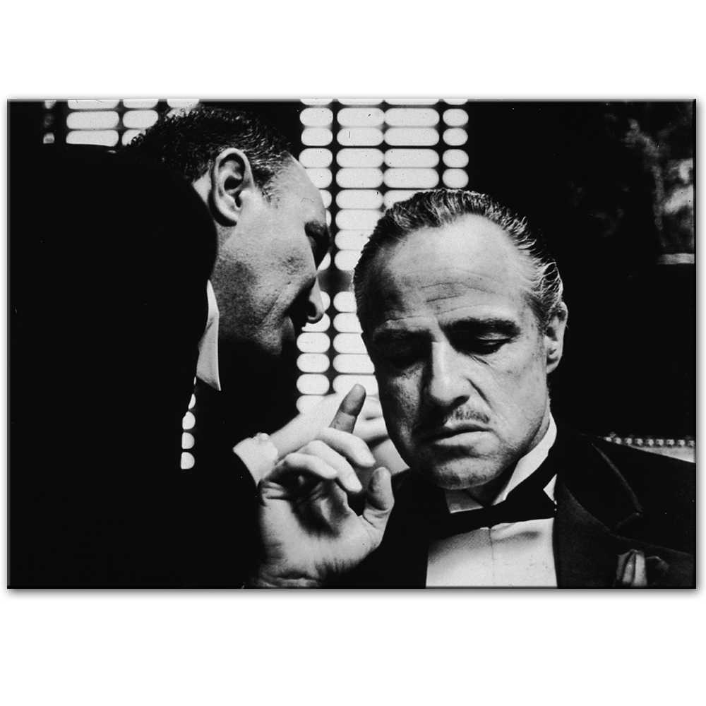 The godfather vintage wall posters and prints black and white movie photo wall art canvas prints