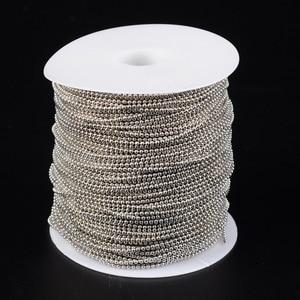 Image 4 - 100 m/roll 1.5mm Demir Top Boncuk Zincirleri Kolye Bilezik Takı Yapımı Ayarlanabilir Kurşun ve Nikel Ücretsiz antik Bronz Renk
