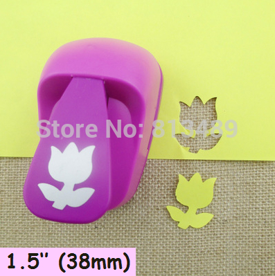38mm Tulip Paper Cutter Diy Craft Punch Hole Punch Shapes Perfuradores De Papel Decorative Arts And Crafts S3024