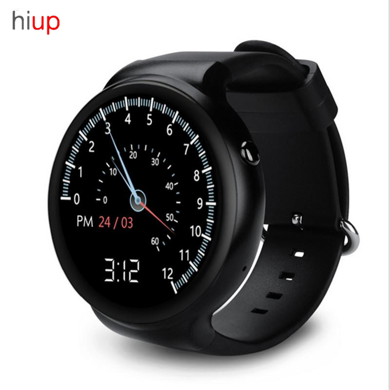 hiup Smart Watch Android 5.1 OS 1GB RAM 16GB ROM WIFI 3G GPS Heart Rate Monitor Bluetooth MTK6580 Quad Core SmartWatch