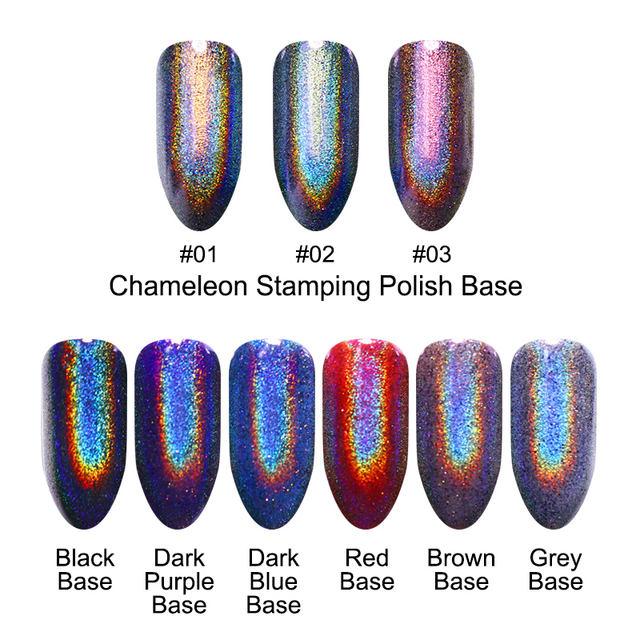 Purple Rainbow UV Glitter Nail Powder