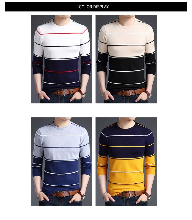 3e39f297f 2019 nueva marca de moda suéteres hombres jersey de Color sólido Slim  jerséis Knitred V cuello otoño estilo coreano casuales de los hombres ropa
