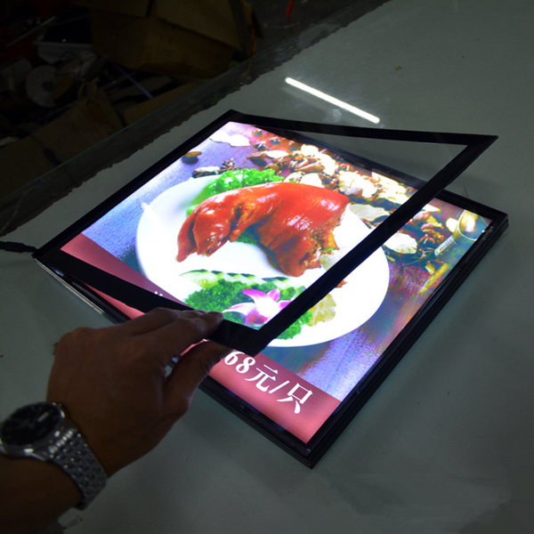 a3 size magnetic aluminum frame backlit led light box wall mounted