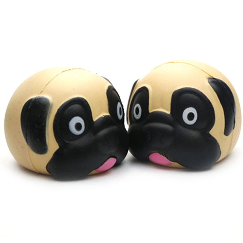2018 Fashion Pretty Cute Pug Toy Anti Stress Squeeze Soft Slow Rising Cute Cartoon PU Antistress Toys