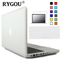 3 In1 Transparent Crystal Matte Rubberized Hard Case Cover Keyboard Cover Case Film For Apple Macbook