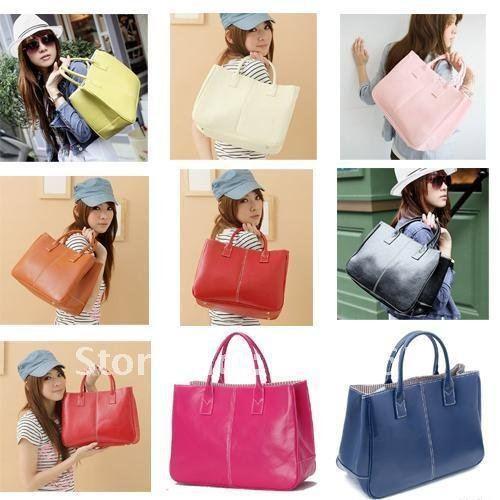Women Bags handbag Lady PU handbag Leather Shoulder Bag handbags elegant free shippment factory price Free Shipping W1237