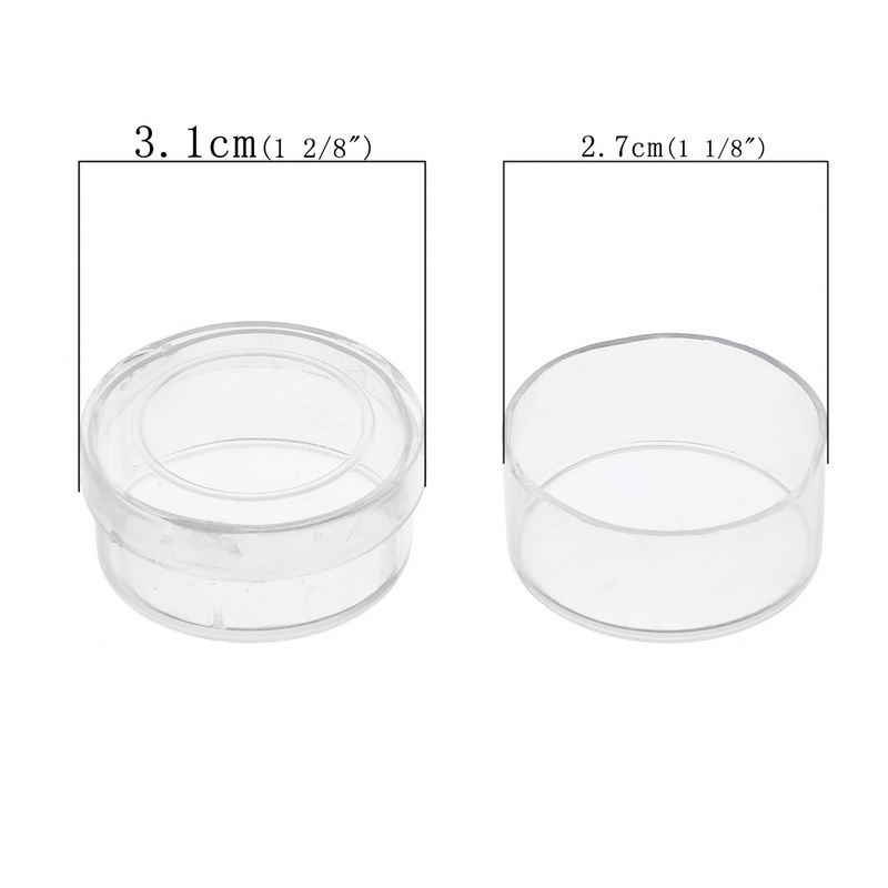 Urijk 12PCs Cylinder Hyaline Acrylic Storage Box Jewelry Storage Boxes Makeup Organizer Saundries Containers Capsules For
