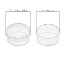Urijk 12PCs Cylinder Hyaline Acrylic Storage Box Jewelry Storage Boxes Makeup Organizer Saundries Containers Capsules For Coins