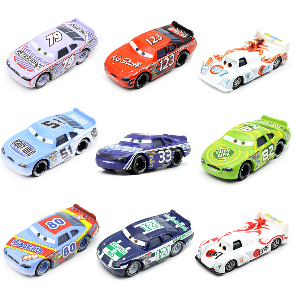 Disney Pixar Racing Cars 2 3 Toys Lightnig McQueen Mater Jackson Storm Ramirez 1 55 Diecast