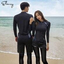 Спортивные Гидромайки Для мужчин Для женщин 5 штук рубашка с длинными рукавами шорты брюки купальники для пар серфинг для купания Костюмы Рашгард Гидрокостюмы мокрого типа