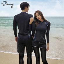 406b1d12da2 Sport Rash Guards Men Women 5 Pieces Long Sleeve Shirt Shorts Pants Couples  Swimwear Surfing Bathing Suits Rashguard Wetsuits