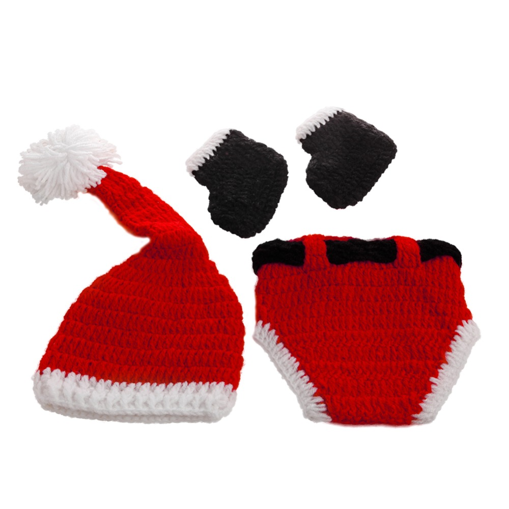 Christmas Baby Hats Hand-Knit Hat Knitted Beanie Baby Cap Handmade Autumn Winter %328/319