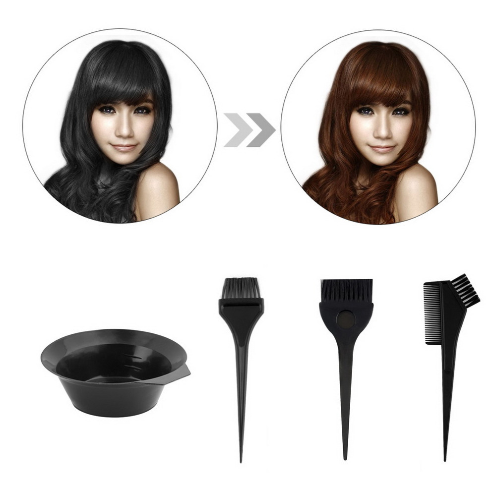 Hot Selling 4 pcs Plastic Salon Hair Dye Set Hair Colouring Brush ...