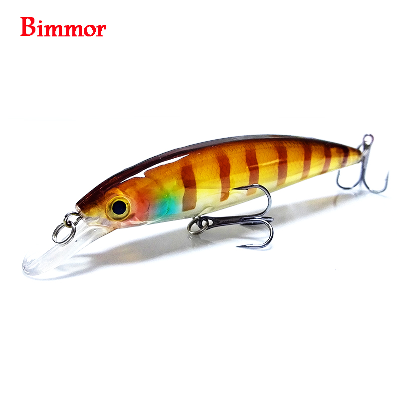 Bimmor Brand 1PCS Laser Minnow Pescuit Lure 11CM 12.5G pesca cârlige Floating Wobbler tackle crankbait artificial japan hard momeal