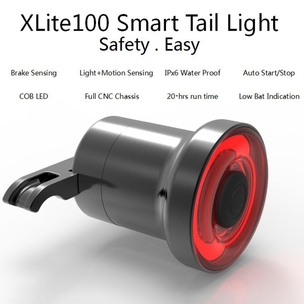 Mini Lumière De Frein De Vélo Intelligente Sensorielle Vélo Queue Arrière Lumière USB De Charge Vélo Feu Arrière Lampe avec Selle Installer Montage