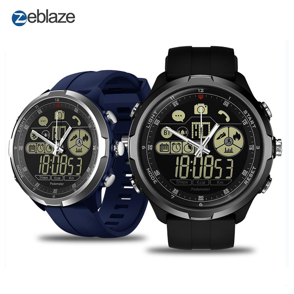 Zeblaze VIBE 4 HYBRID Rugged Hybrid Smartwatch IP68/50M Water Resistant Heart Rate Mechanical Hands 1.24 inch Smart Watch Men iman i6 walkie talkie 4 7 inch ip68 rugged phone waterproof android4 4