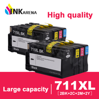 INKARENA 2 Set Printer Ink Cartridge Compatible Replacement For HP 711 For HP711 Designjet T120 T520 Printers inkjet Cartridges