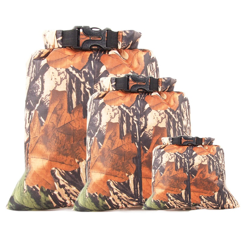 Three-piece Camouflage Waterproof Bag Swimming Drifting Phone Wallet Documentsclothing Compression Waterproof Storage Bag(China)