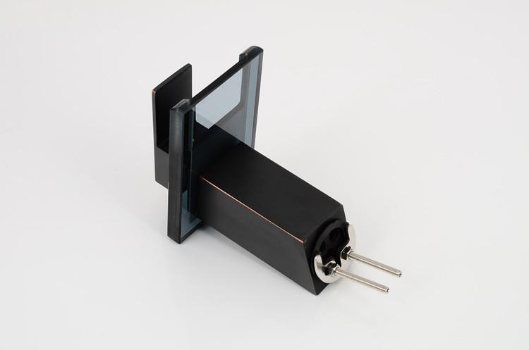 Badkamer Kraan Zwart : Nieneng sink koper brons zwart glas waterval voor badkamer kraan