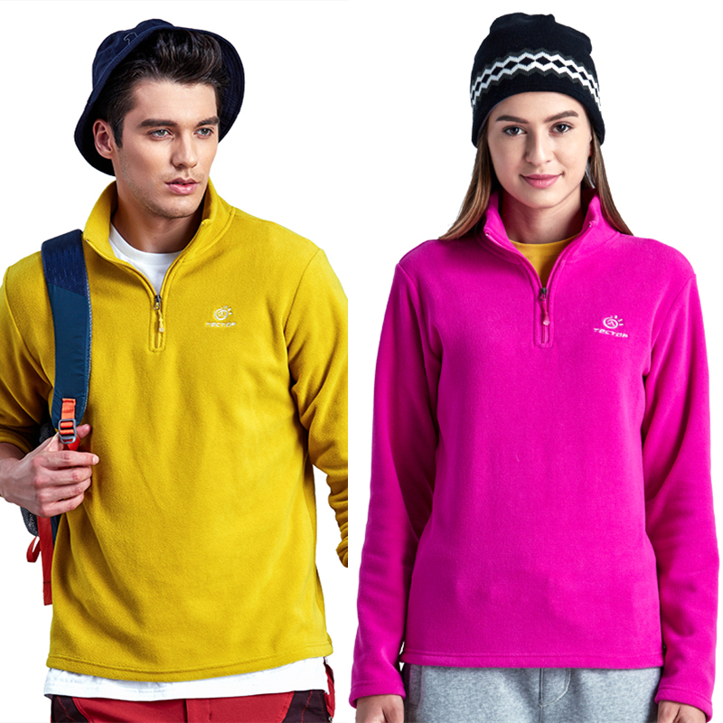 Tectop Autumn Winter Thermal Fleece Jacket Outdoor Windproof font b Camping b font Hiking Hunting Overcoat