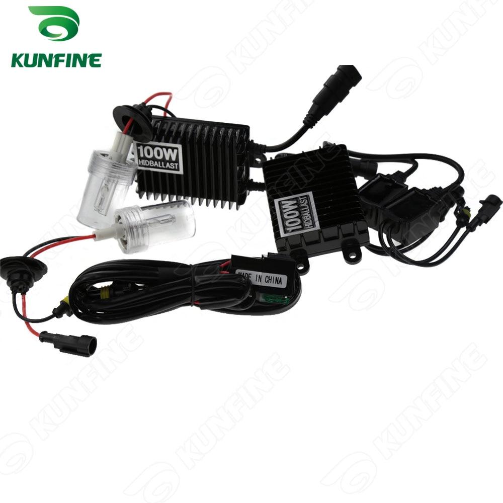12 v 100 w 9005 voiture HID Kit de Conversion HID xénon KIT voiture HID phare avec 100% AC ballast