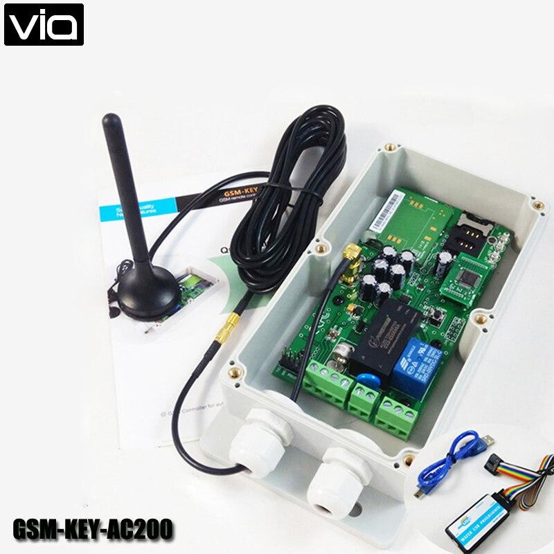 ФОТО VIA GSM-KEY-AC200 Direct Factory GSM Remote Control Garage Door Opener 200 Authorized Number