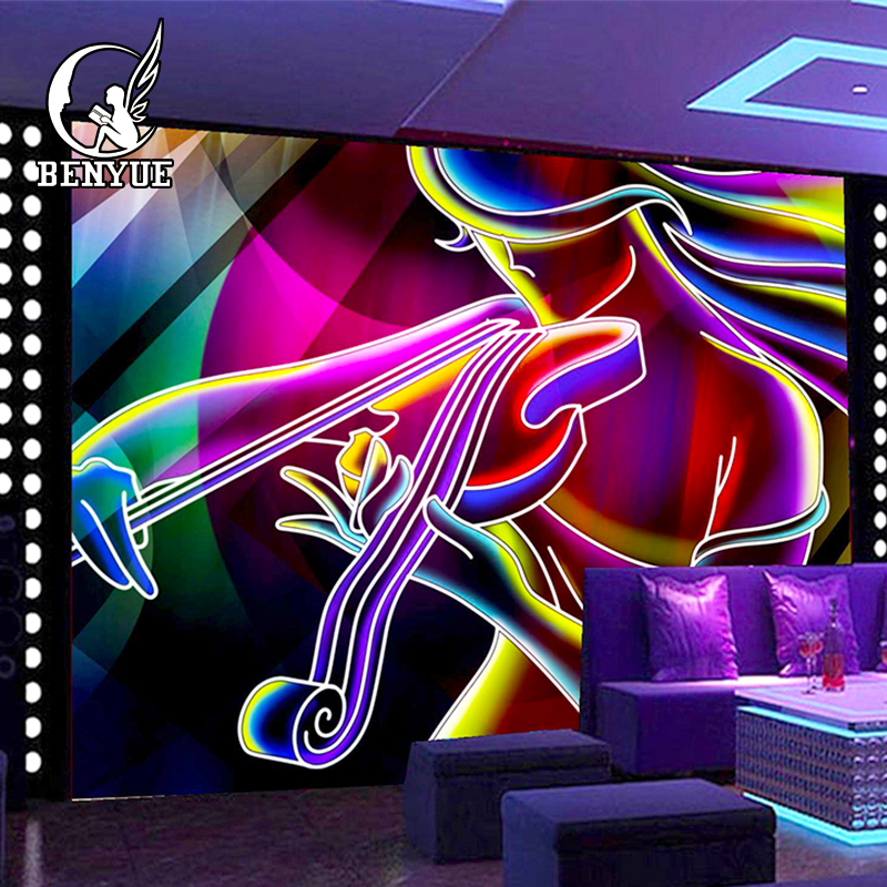 Custom size graffiti 3d wallpaper for bar club Entertainment usage TV sofa background wall murals Custom