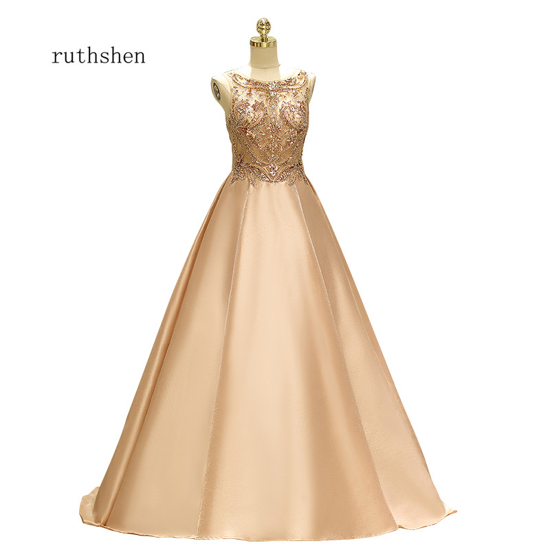 ruthshen Reflective   Dress   Beading   Prom     Dresses   Sleeveness Formal Party   Dress   Vestido De Formatura Special Occasion Gowns New