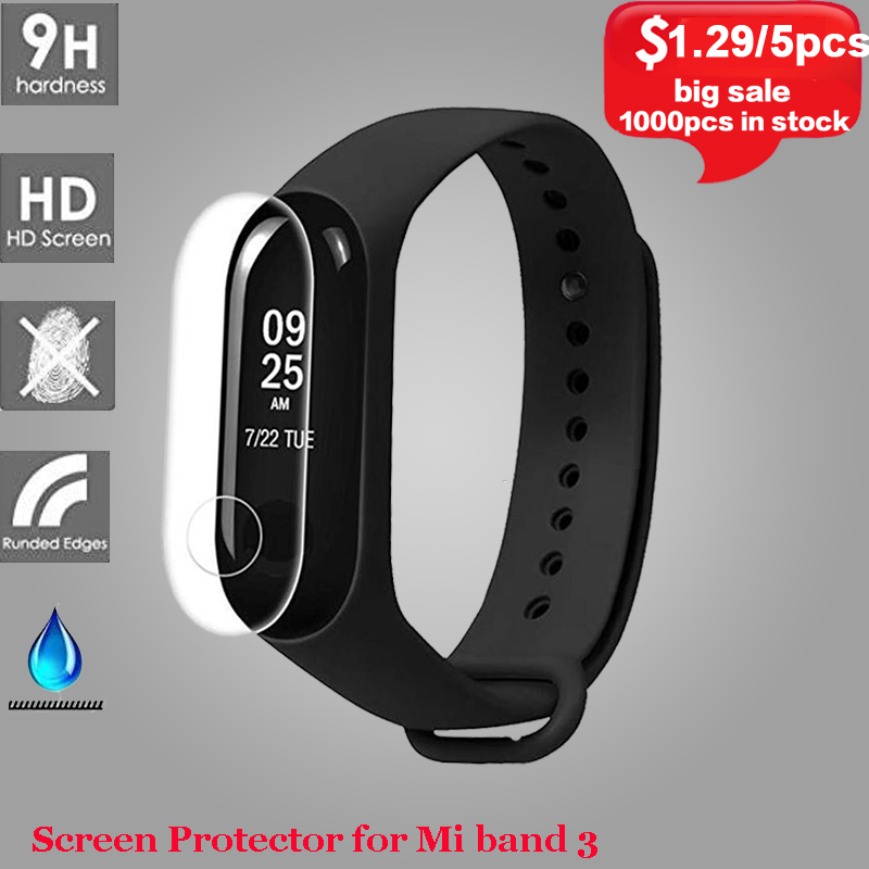 5pcs/2pcs/1pcs Screen Protector for Mi Band 3 Anti-scratch Protective Film for Mi 3 Xiaomi Mi Band Smart Bracelet Accessories . цена
