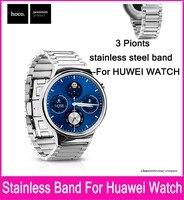 Hoco 2016 Nouveau Argent Noir 20mm Lien Bracelet Bande Pour Huawei Watch Bracelet Avec 2 Bielles Et Belle Détail paquet