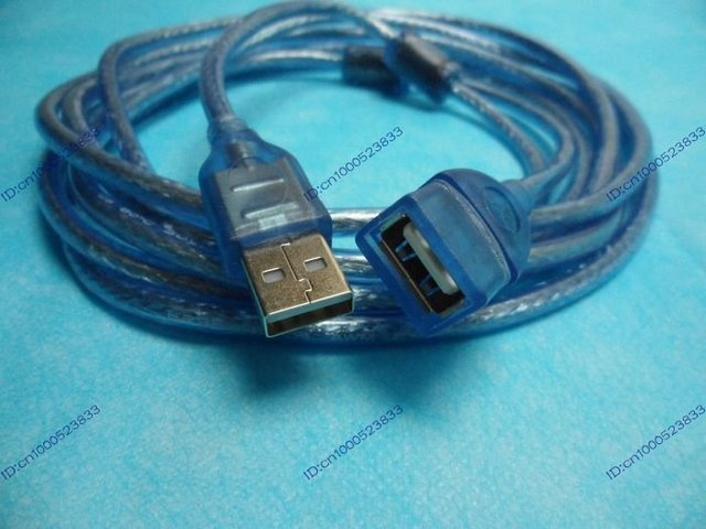 USB 2.0 extension cable 10M blue free ship