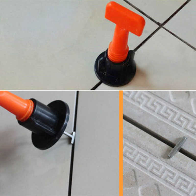 Flooring Wall Tile Leveling System Leveler Adjustable Locator Reusable Leveling System Floor Construction Tool Supplies 50pcs