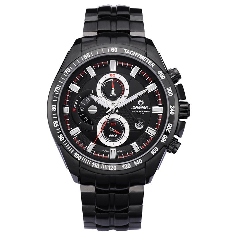 Luxury Brand Watch Men Quartz-Watch Sports Fashion Luminous Chronograph Stopwatch Waterproof 100m Wrist Watches CASIMA#8101 casima st 8101 b7e