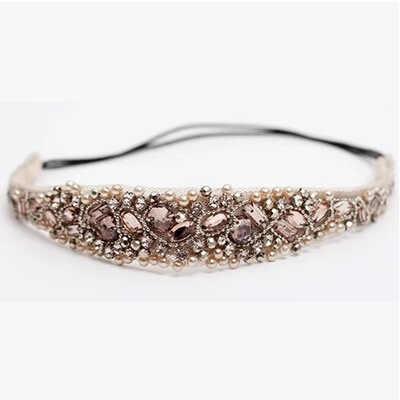 Novas Mulheres pérola Headband Strass Moda Rendas Impressão Elástica Sólida Bonito Faixa de Cabelo Acessórios Do Cabelo Do Casamento Da Noiva A5063