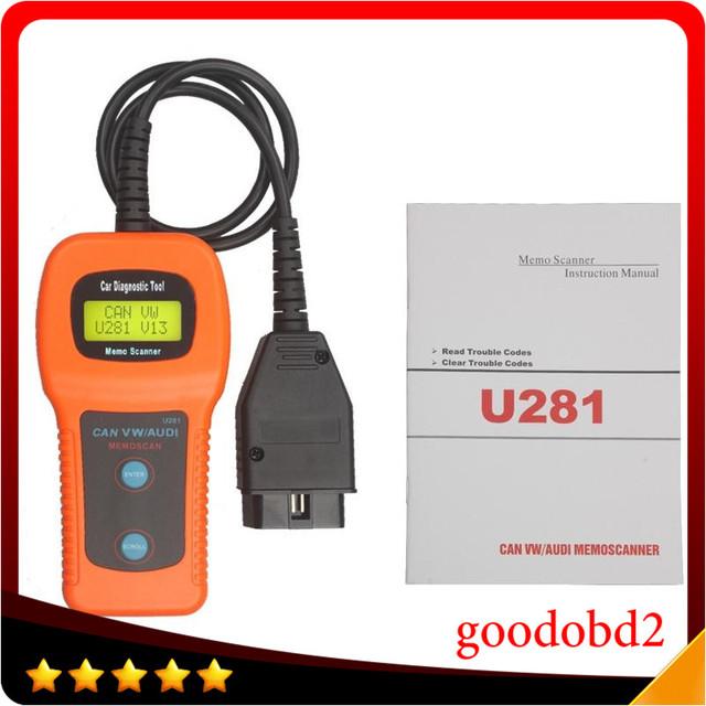 Memoscanner U281 Airbag Auto Cuidado de Carro Ferramenta de Diagnóstico ferramenta de verificação de Leitor de Código de Motor de automóvel para VW audi U281 Memoscan
