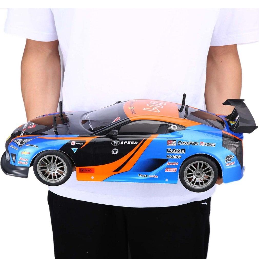 1/10 1400 mAh 2.4G voiture de course 1:10 RC modèle voiture 25 KM/h sport plat dérive véhicule jouets 2 Batteries EU Plug pour enfants