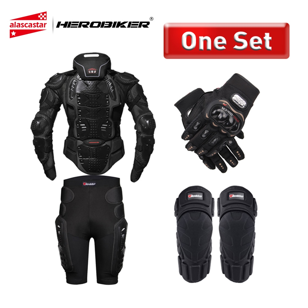 HEROBIKER Motorcycle Armor Protection Body Armor Protective Gear Motocross Moto Jacket Motorcycle Jackets With Neck Protector|Armor| |  - title=
