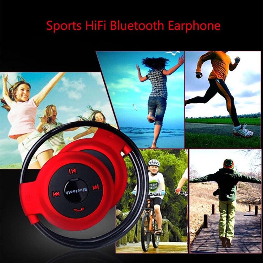 Aimitek Sport Wireless Bluetooth Headphones Stereo Earphones Mp3 Music Player Headset Earpiece Micro SD Card Slot Handsfree Mic 6