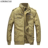 AIRGRACIAS Brand Clothes Autumn Men's Military Jacket Army Tactical Clothing Multicam Male Windbreakers Jackets Size M 6XL