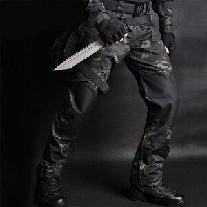 Image 2 - Mega erkekler Jogger taktik pantolon kamuflaj askeri kargo Sweatpants gevşek Camo günlük pantolon Joggers pantalones tacticos XXXL