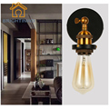 BRIGHTINWD Classical Wall Lamp Loft Style Wall Light Holder with 40W E27 Edison Bulb Iron Plated Retro Industrial Home Lighting