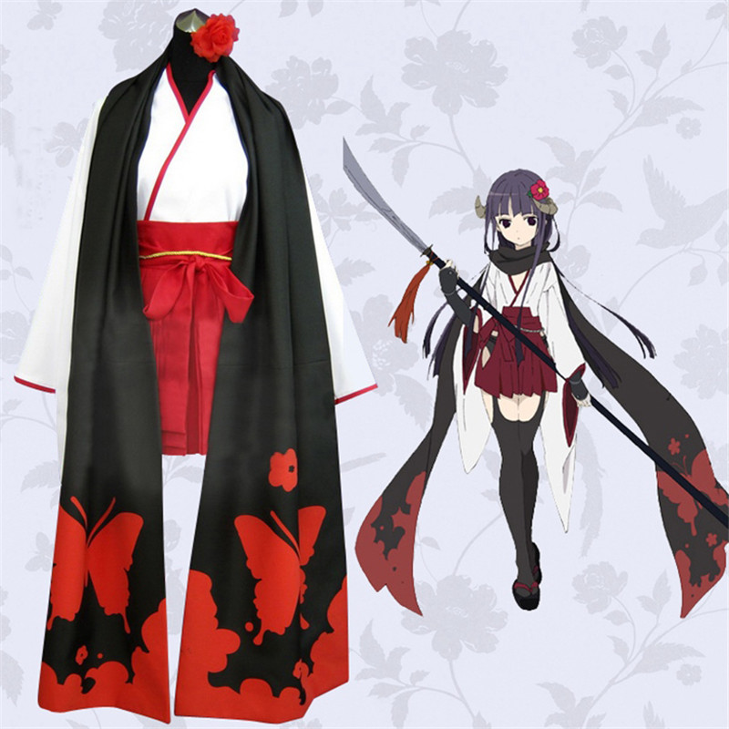 Anime cosplay Inu x Boku SS Shirakiin Ririchiyo Atavistic Mikofuku Uniform Cosplay Costume Secret Service Full Set Dress