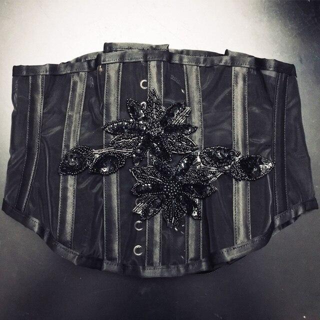 9adc9d0e69 Annzley 18 Pieces Steel Boned Waist Cincher Corset Side Zipper Mesh Short  Underbust Corset For Waist Slimming