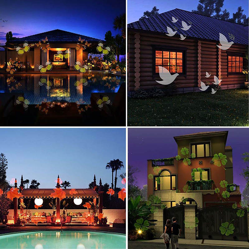 12 Pattern Christmas Halloween Projection LED Landscape Projection Spotlight Outdoor And Indoor Holiday Decor Lamp  LO8812 Pattern Christmas Halloween Projection LED Landscape Projection Spotlight Outdoor And Indoor Holiday Decor Lamp  LO88