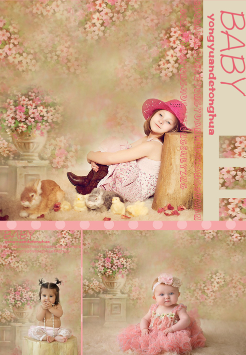 Customize newborn floral photography backdrops vinyl digital cloth background for photo studio portrait props background S-108 200 300cm wedding background photography custom vinyl backdrops for studio digital printed wedding photo props