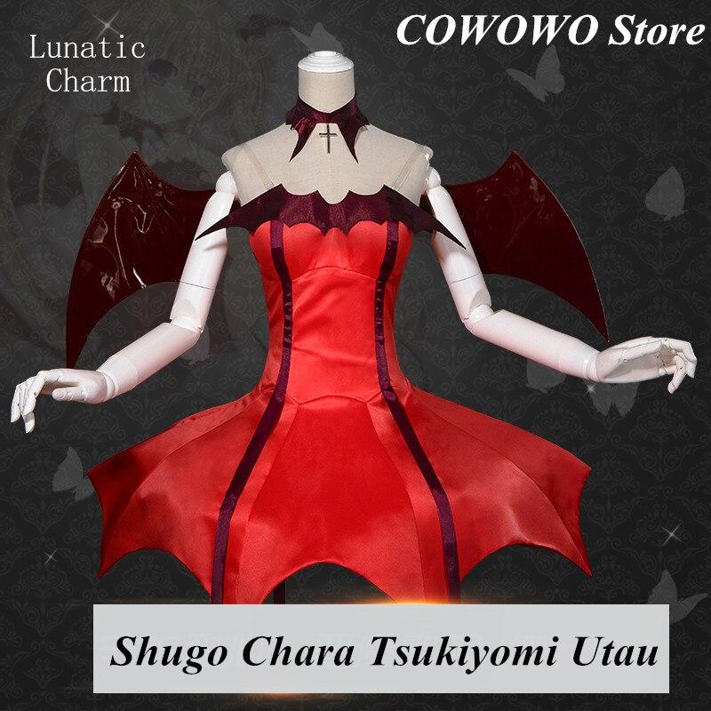 Аниме! 2018 Новинка; Лидер продаж игры Shugo Chara Tsukiyomi Utau Lunatic очарование красный Лолита равномерное Косплэй костюм симпатичное платье Бесплатная