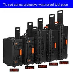 Caja de seguridad de protección al aire libre cajas impermeables a prueba de golpes caja de herramientas de plástico caja de herramientas de almacenamiento de herramientas de seguridad con espuma