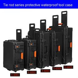 Caja de seguridad protectora al aire libre a prueba de golpes cajas impermeables caja de herramientas de plástico caja seca equipo de seguridad almacenamiento de herramientas con espuma